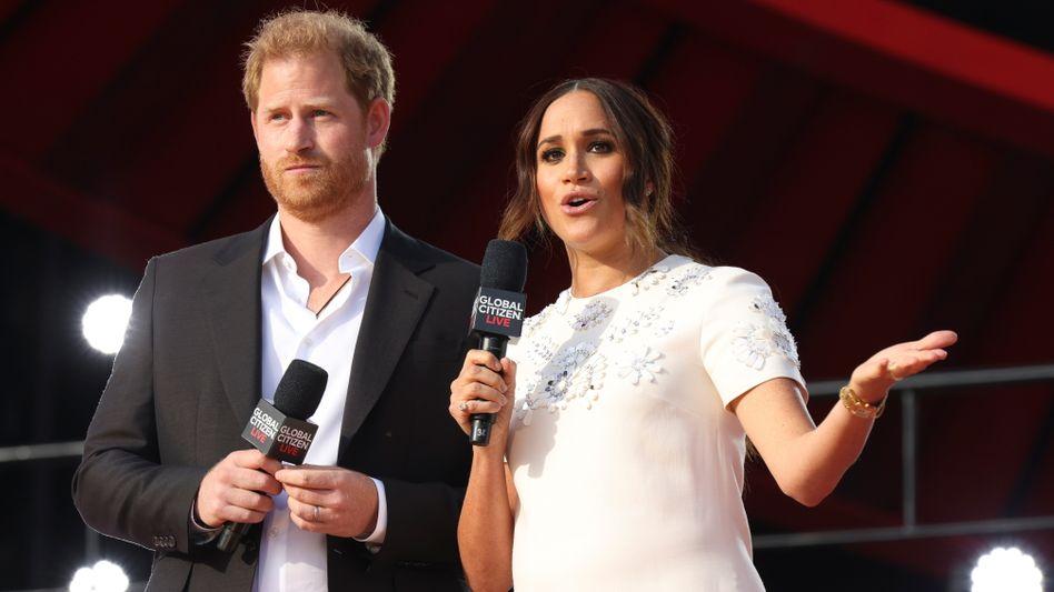 Prinz Harry und Herzogin Meghan beim Global-Citizen-Festival im New Yorker Central Park