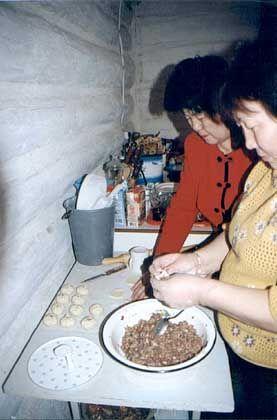 Nationalspeise, burjatische: Lecker Teigbällchen
