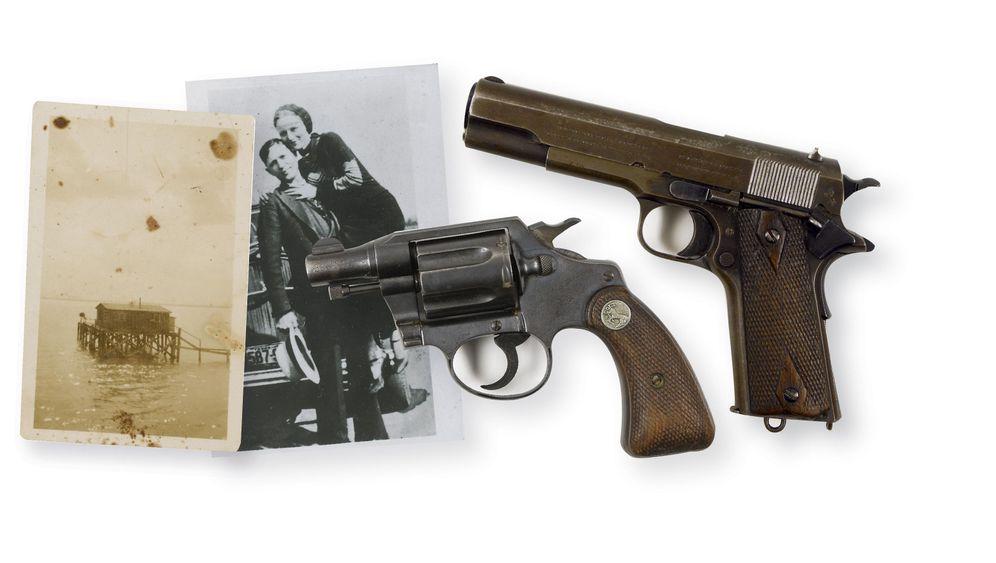Auktion: Eine halbe Million Dollar für Waffen von Bonnie und Clyde