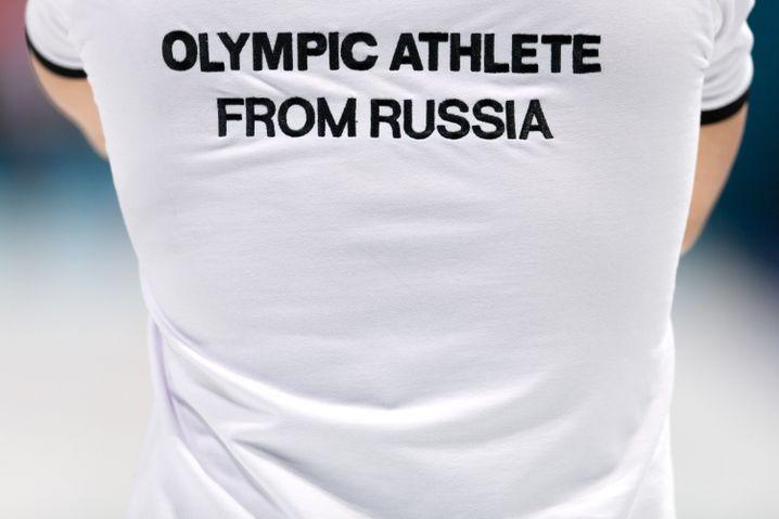 Russischer Athlet bei Olympia