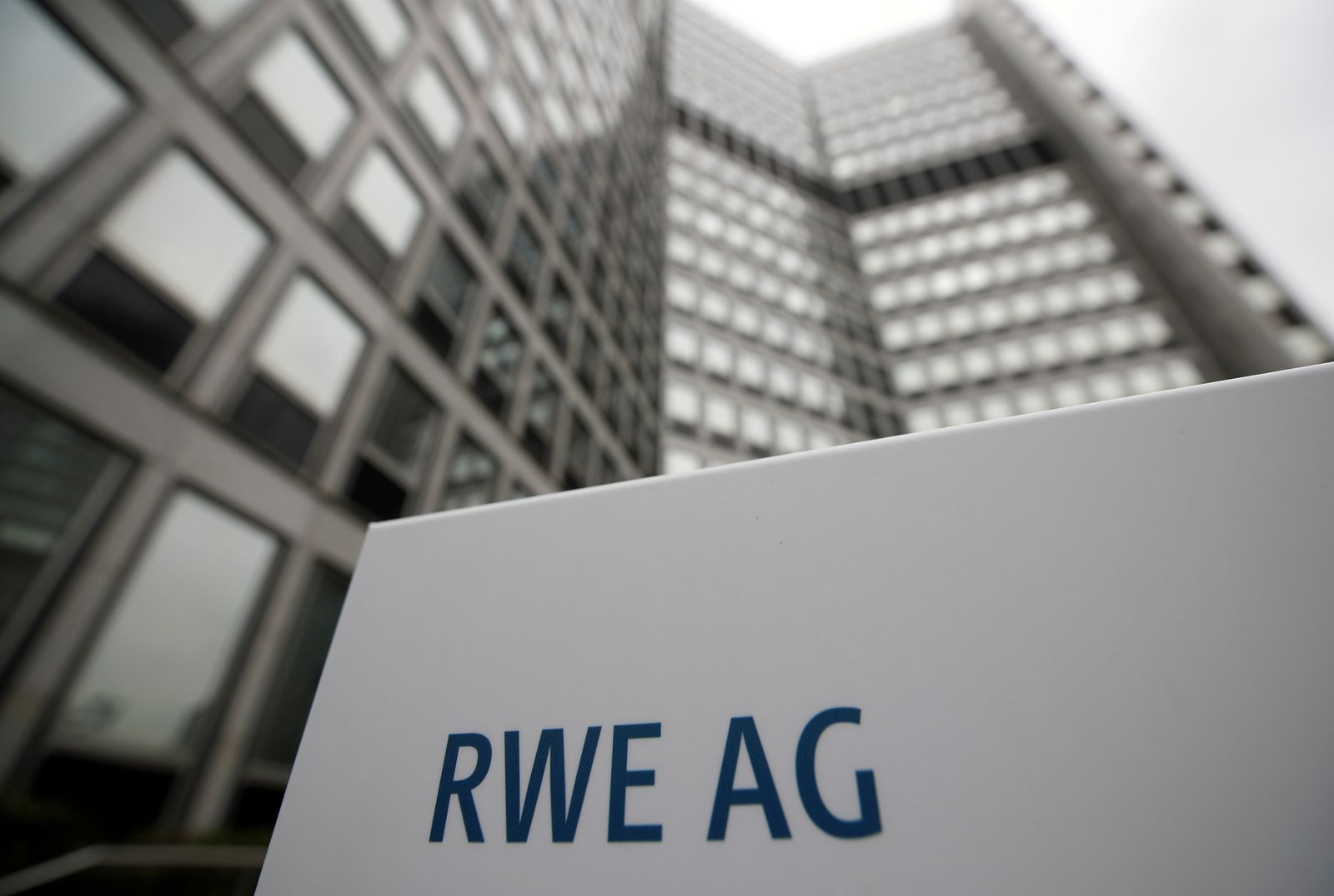 FILE PHOTO: The headquarters of the German power supplier RWE is pictured in Essen