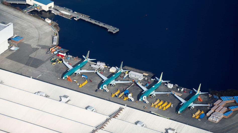 Boeing produziert die 737 Max im Werk Renton - doch weil der Flieger nicht abheben darf, also auch keine Modelle mehr ausgeliefert werden, muss die Arbeit ruhen.