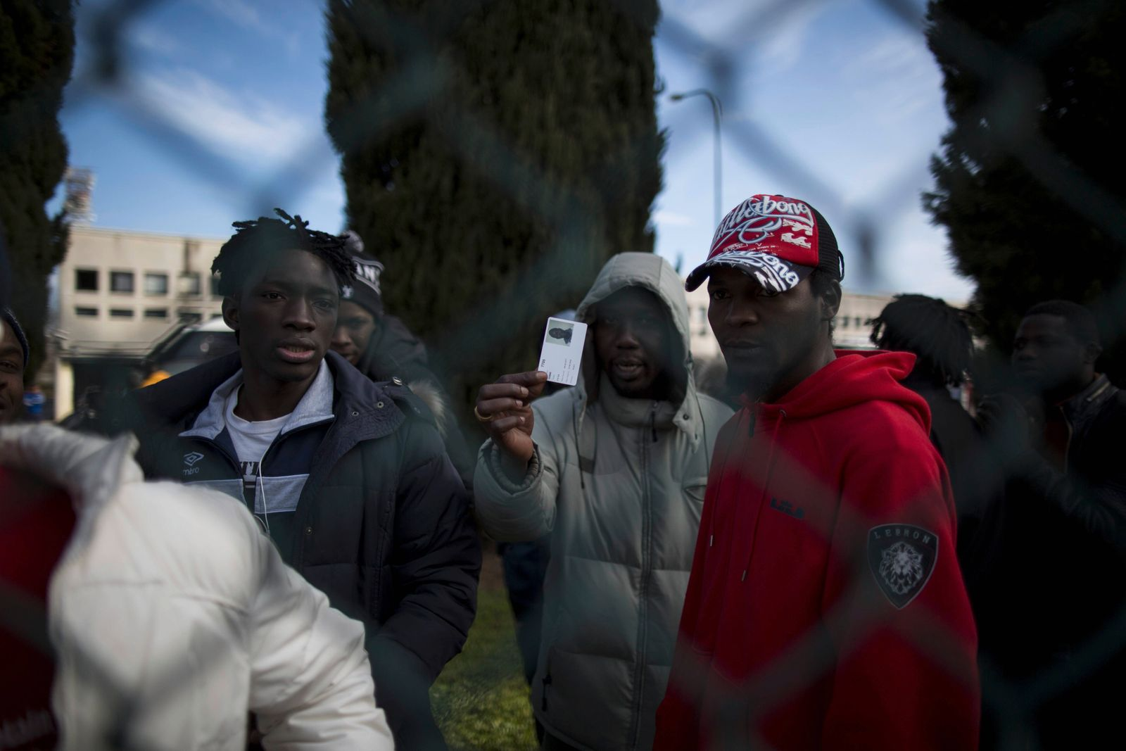 Rom Flüchtlinge werden in neues Camp transferiert January 23 2019 Rome Italy Italy Rome Mig