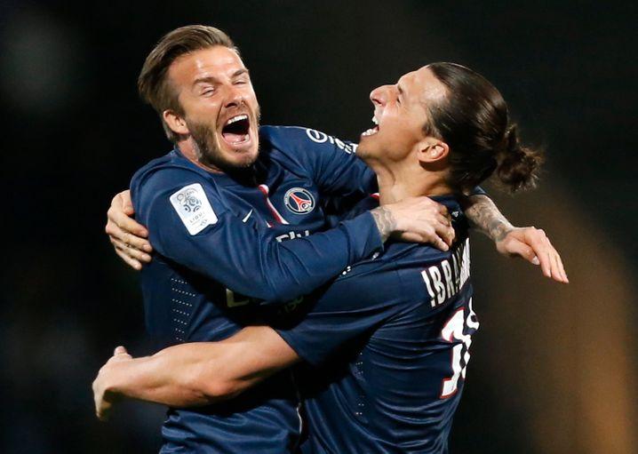 Beckham und Ibrahimović im Jahr 2013: Solche Spieler hatte PSG noch nie