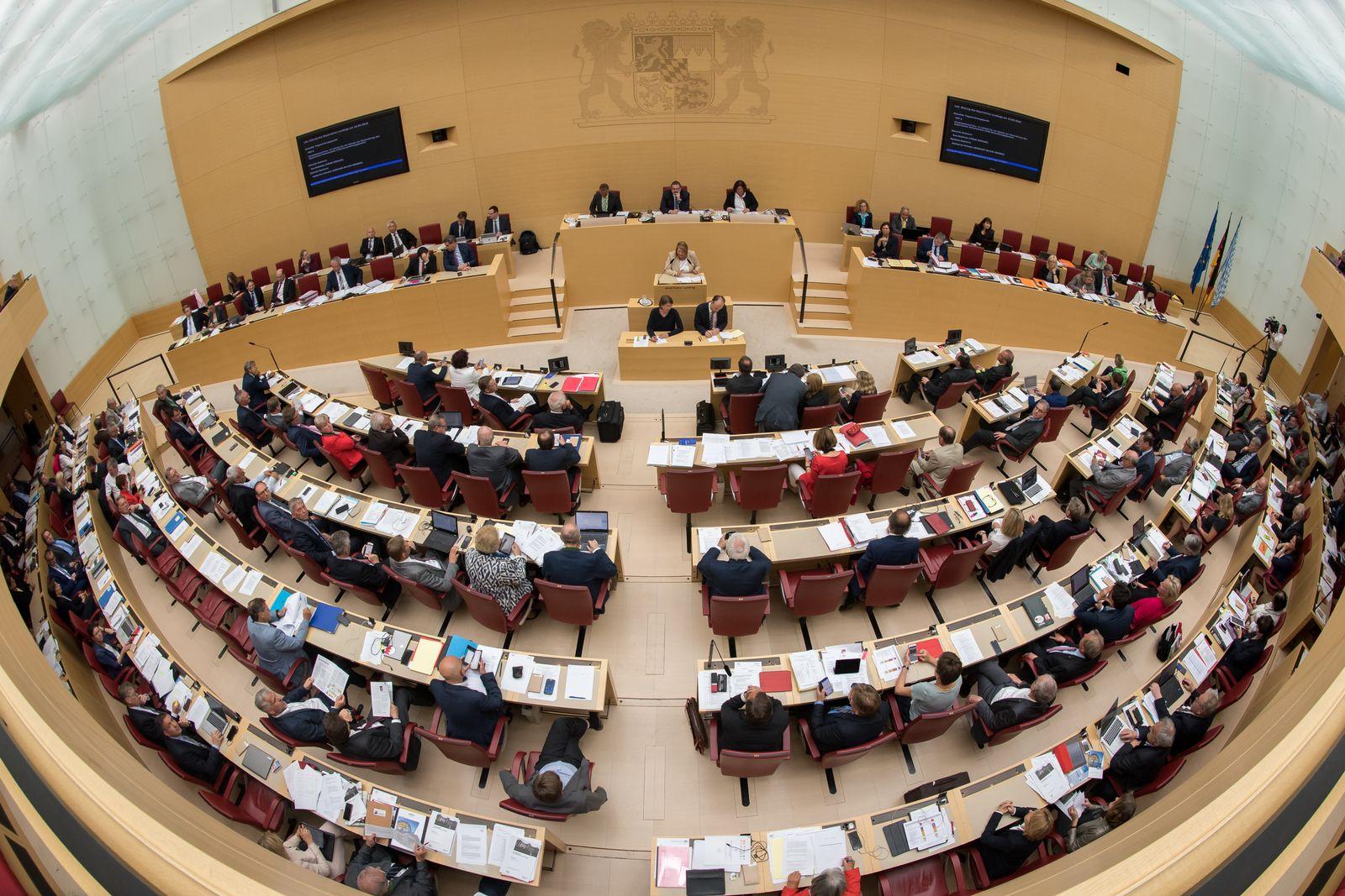 Plenarsaal des bayerischen Landtags