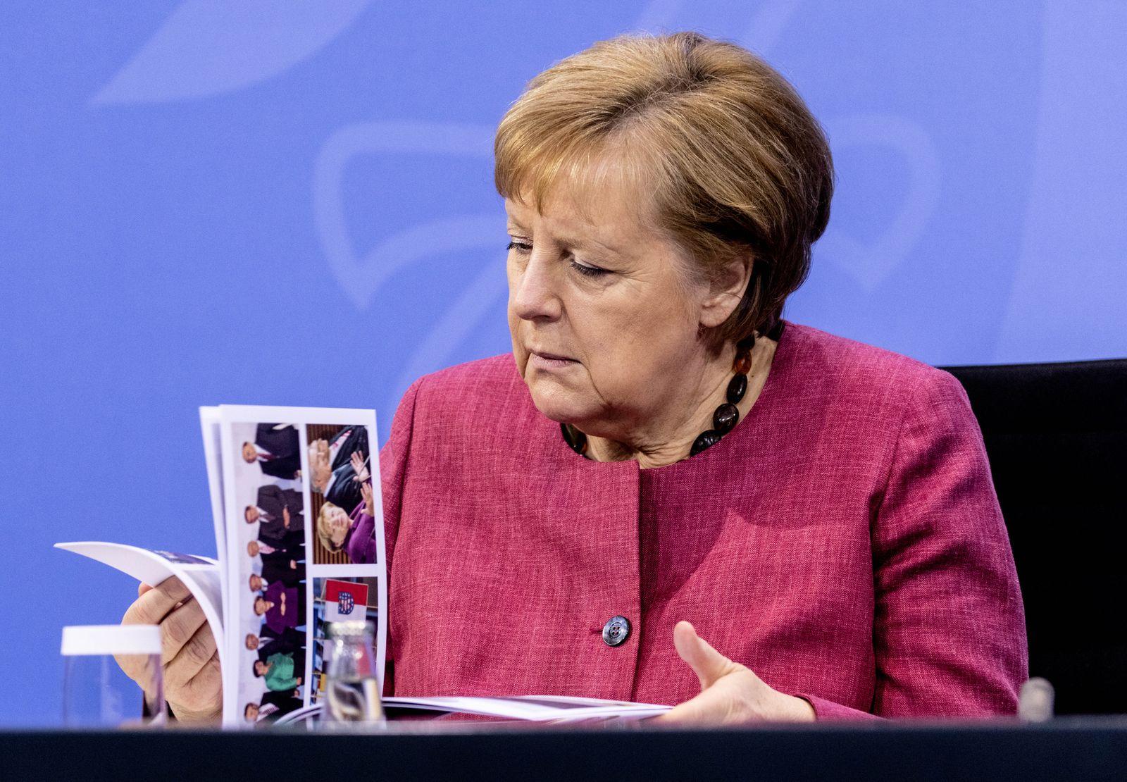 Merkel And East State Leaders Meet Virtually