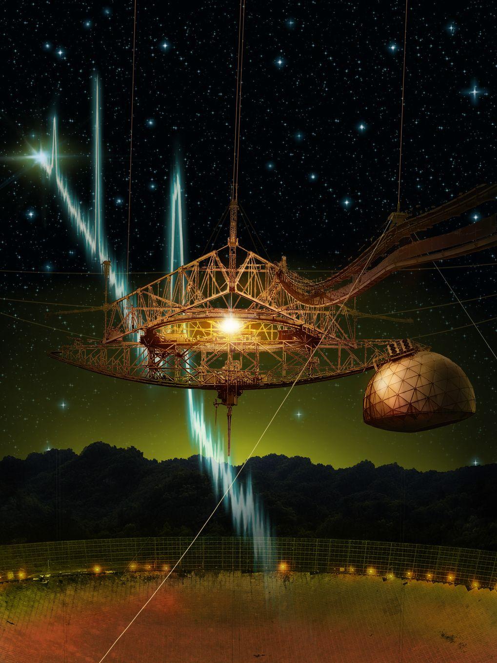 EINMALIGE VERWENDUNG Arecibo/ Radioteleskop