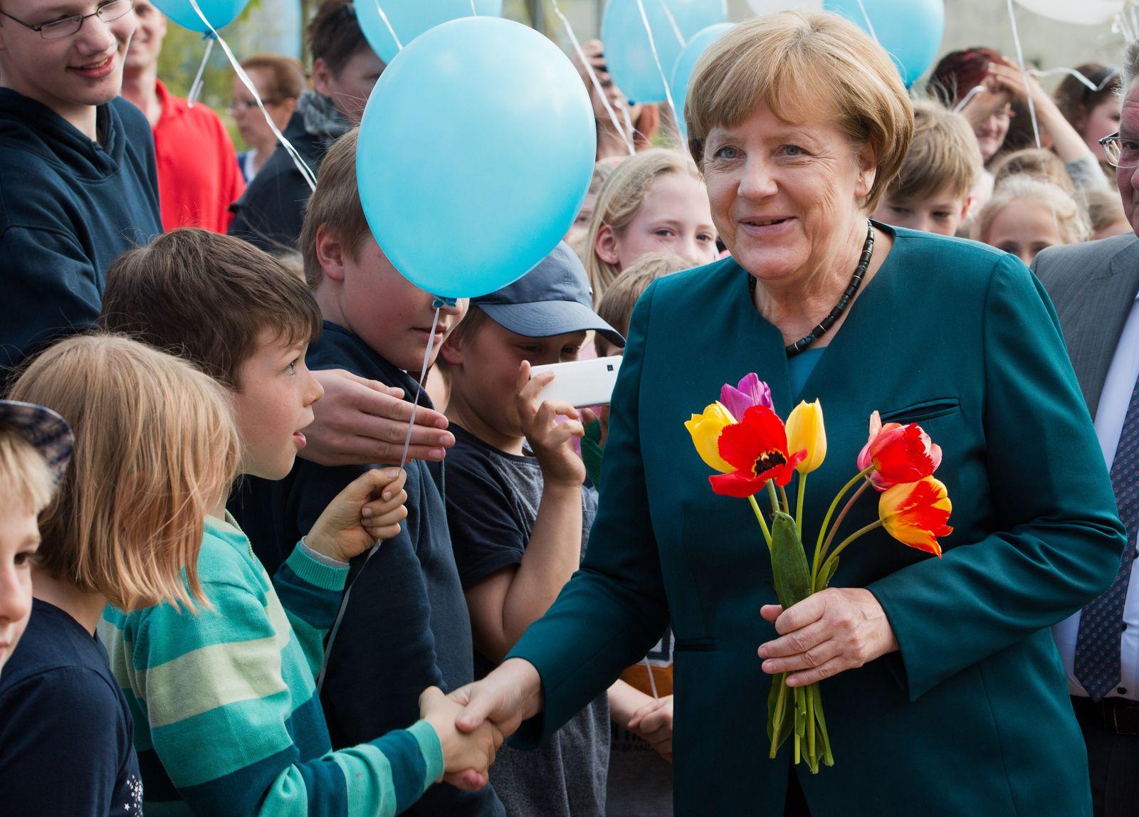 Angela Merkel im Wahlkreis