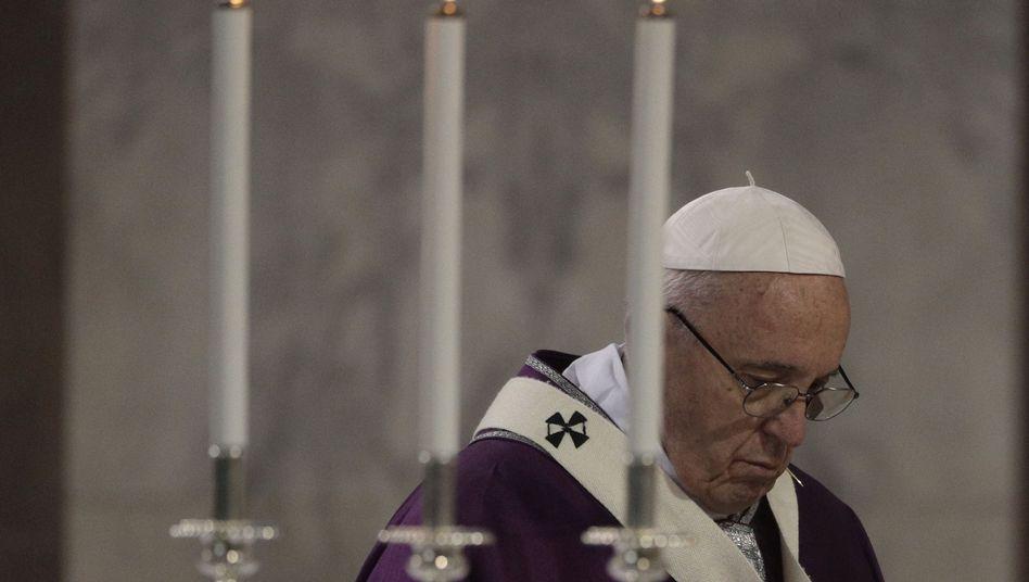 Papst Franziskus (am 1. März in Rom)
