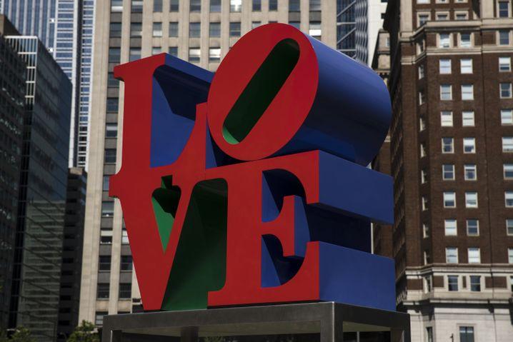 """Skulptur """"LOVE"""" in Philadelphia"""