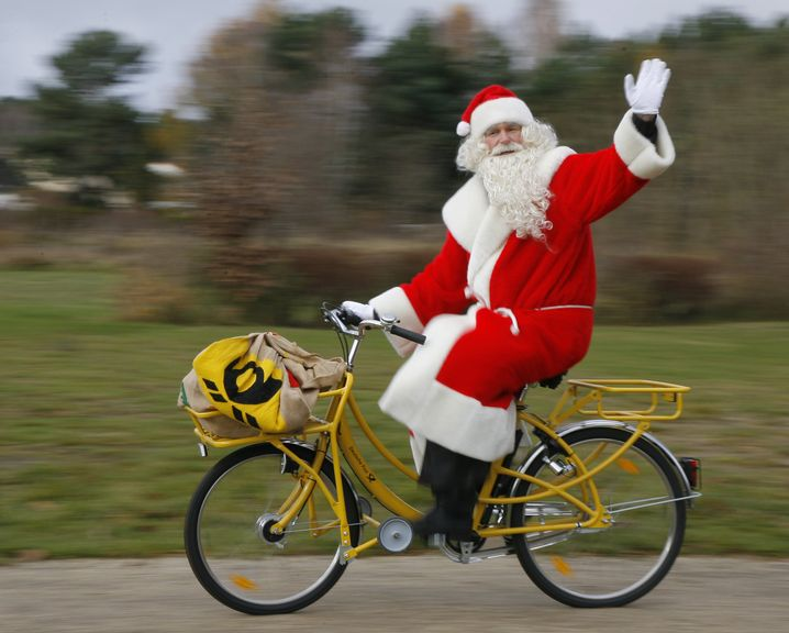 Der Weihnachtsmann auf dem Weg nach Himmelpfort