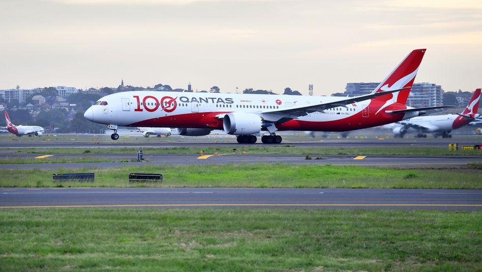 Qantas-Maschine in Sydney: »Ich glaube, das wird eine normale Sache sein«
