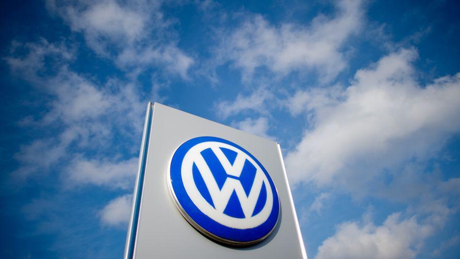 Volkswagen-Logo in Hannover