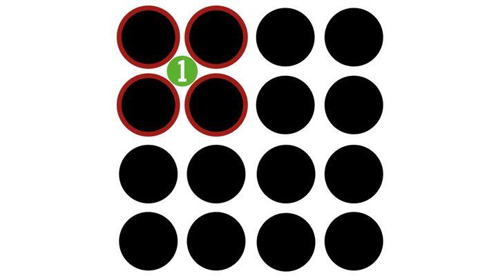 Lösung: Der Dreh zum Schwarz-Weiß-Muster