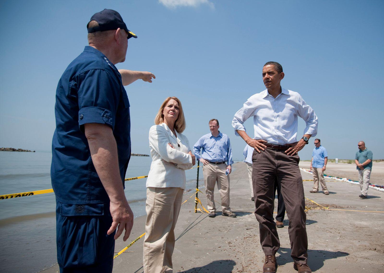 Barack Obama, Thad Allen, Charlotte Randolph