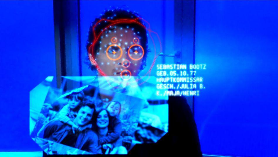 """Szene aus dem Tatort """"HAL"""": Das Gesichtserkennungsprogramm von Bluesky"""