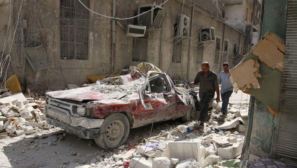Zerstörung in in Aleppo