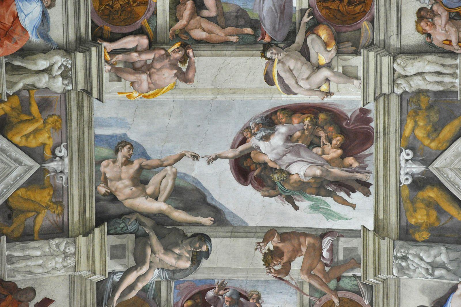 Sixtinische Kapelle Gott