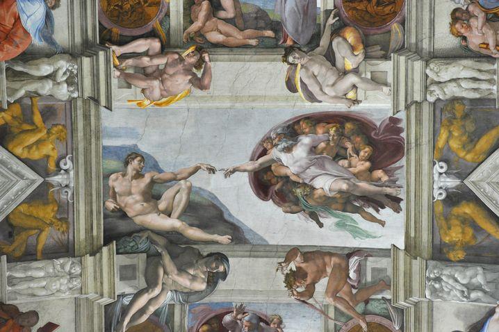 Vaterfigur Gott (in der Sixtinischen Kapelle): des Menschen bester Freund (solange er spurt)