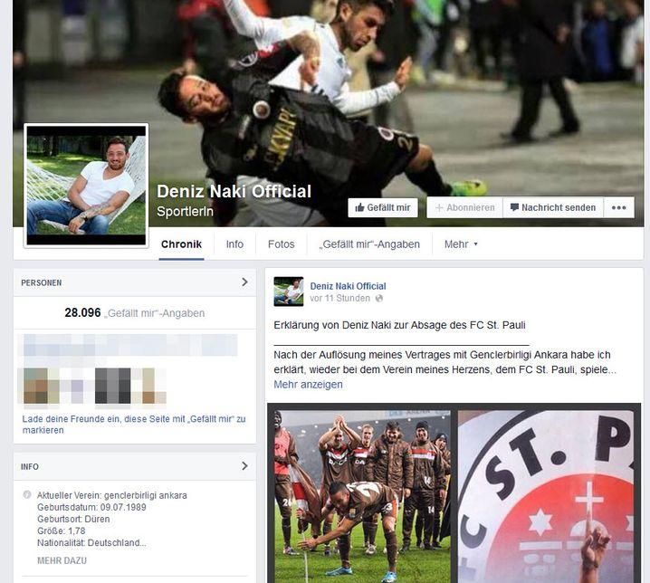 Offizielle Facebook-Seite von Naki: Mein Herz gehört Euch und dem FC St. Pauli