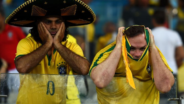 Fanbilder: Deutschland jubelt, Brasilien am Boden