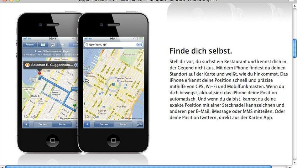 Apple-Website mit Google-Karten: Cupertino schraubt am eigenen Kartendienst