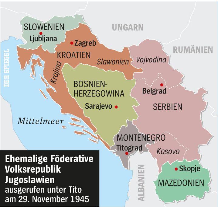 Das ehemalige Jugoslawien