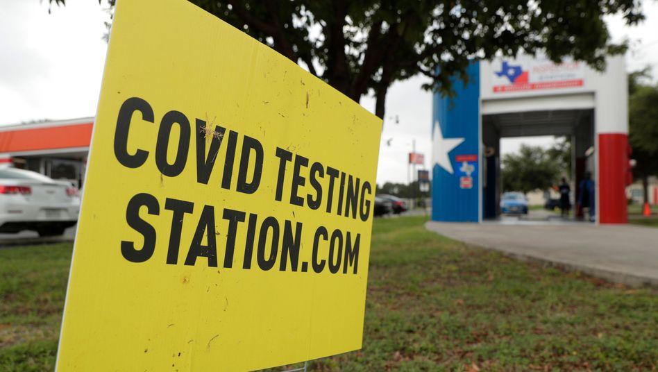 Corona-Teststation in Texas: Mehr als 10.000 neue Fälle