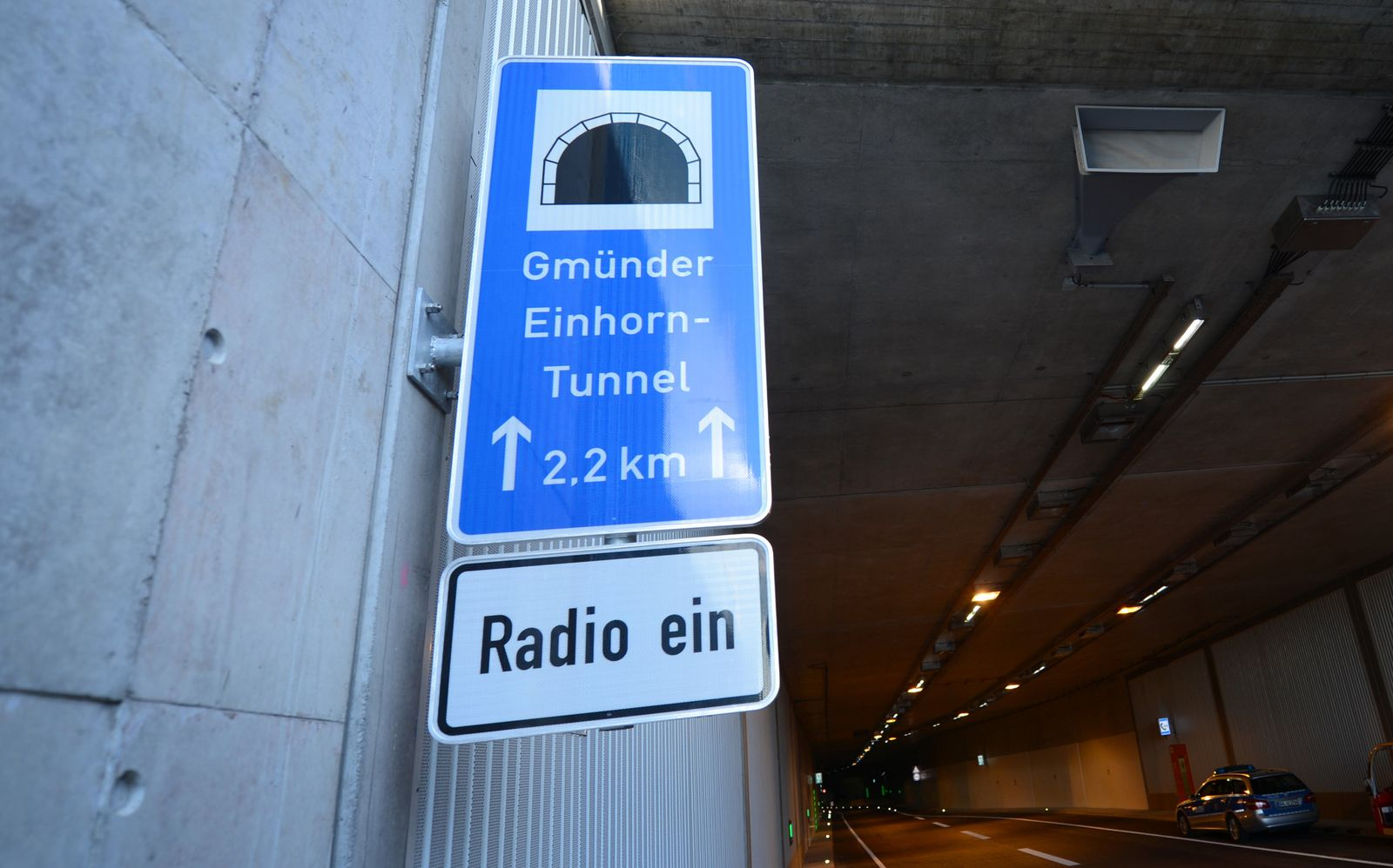 Einhorn-Tunnel/ Schwäbisch Gmünd/ Blitzer