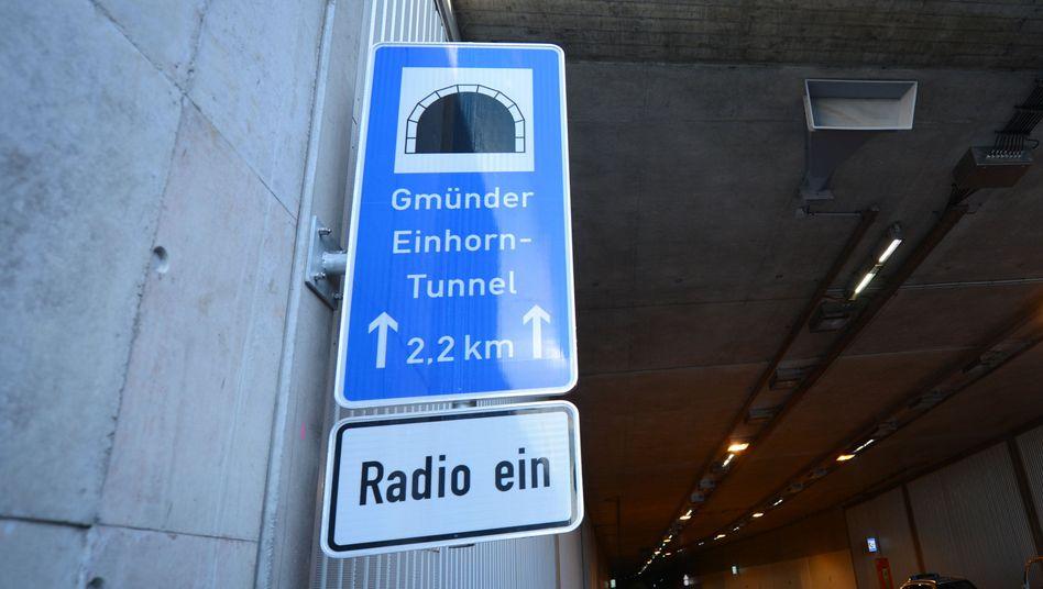 Blick in den Einhorntunnel
