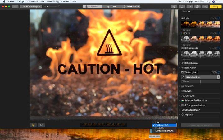 Fotos-App in macOS High Sierra