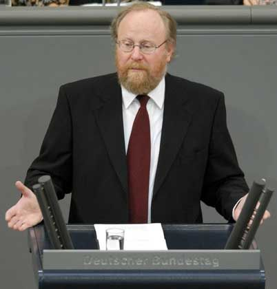 Wird von den WG-Sprachpflegern für sein gutes Deutsch gelobt: Bundestagspräsident Wolfgang Thierse