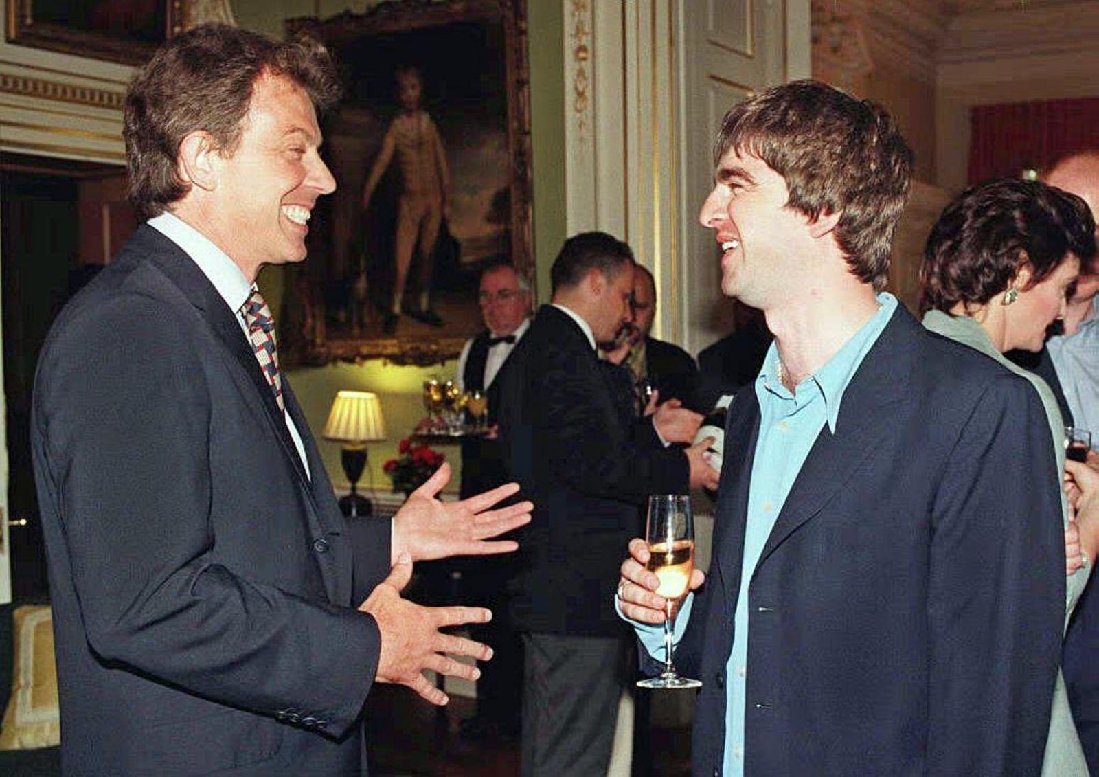 Tony Blair und Noel Gallagher