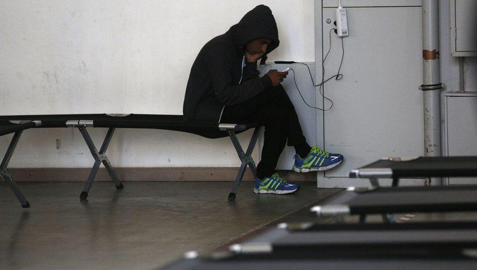 Junger Flüchtling in einem Aufnahmezentrum: Tausende kommen unbegleitet