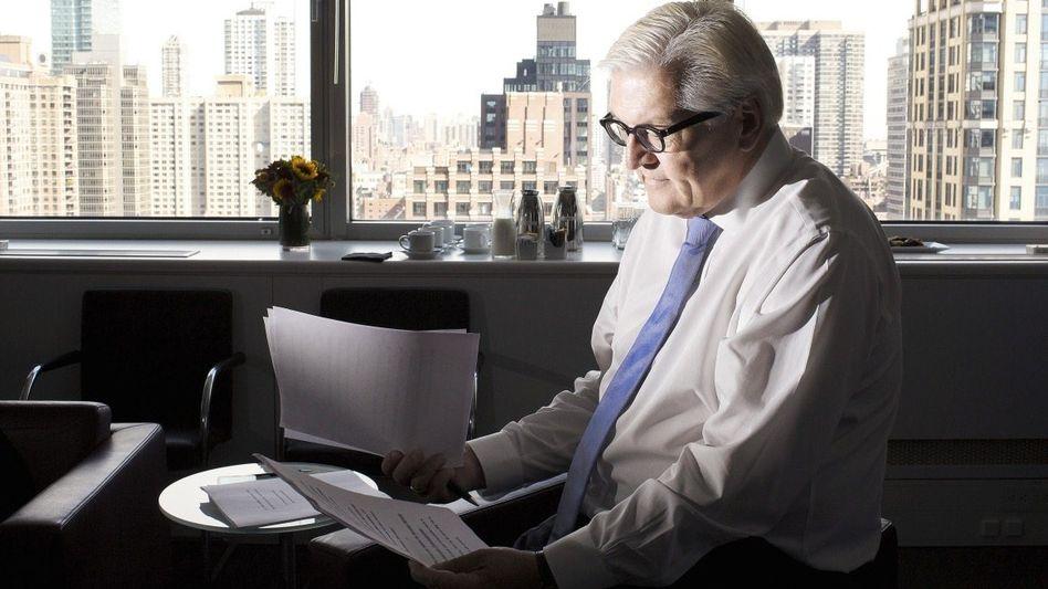 Außenminister Steinmeier in New York: Warnung vor »Säbelrasseln und Kriegsgeheul«