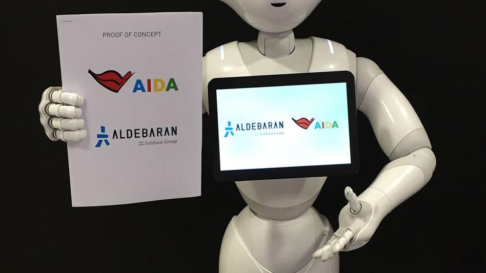 "Service-Roboter ""Pepper"" von Aida Cruises"