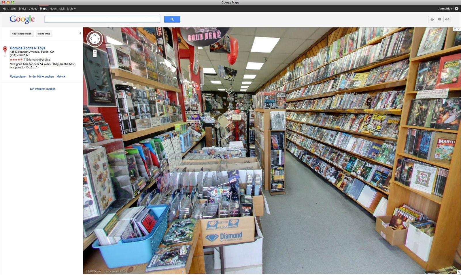 Screenshot Google Street View interior views