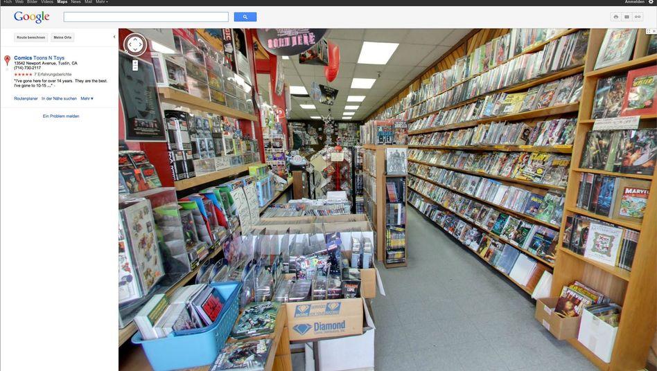 US-Comicladen bei Street View: Google fotografiert nun auch Ladengeschäfte