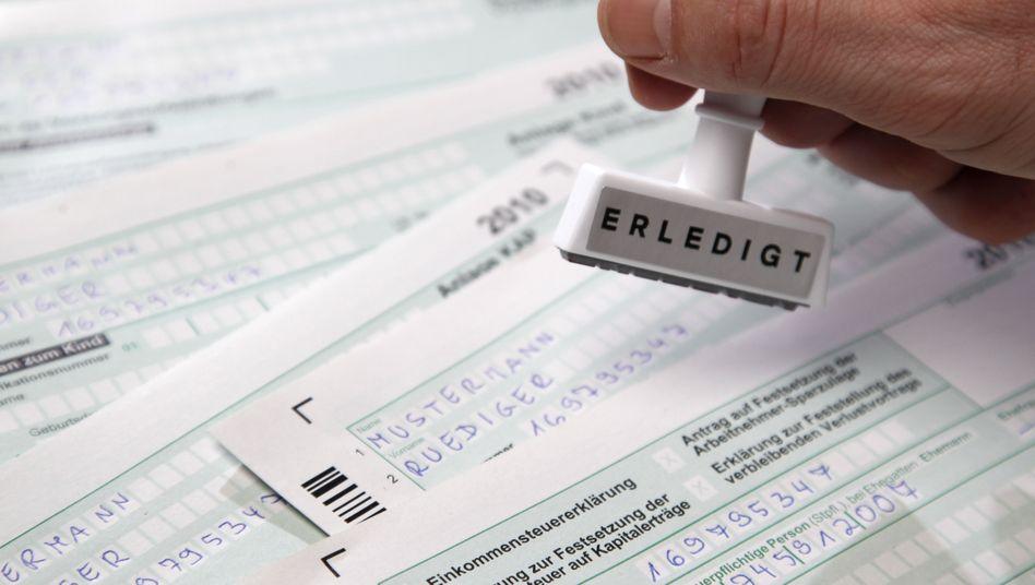 Steuererklärung (Symbolbild): Bildung aussagekräftiger Persönlichkeitsprofile