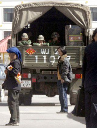 """Polizei in der Kleinstadt Tongren in der Provinz Qinghai: """"Das ist jetzt eine besondere Zeitperiode"""""""