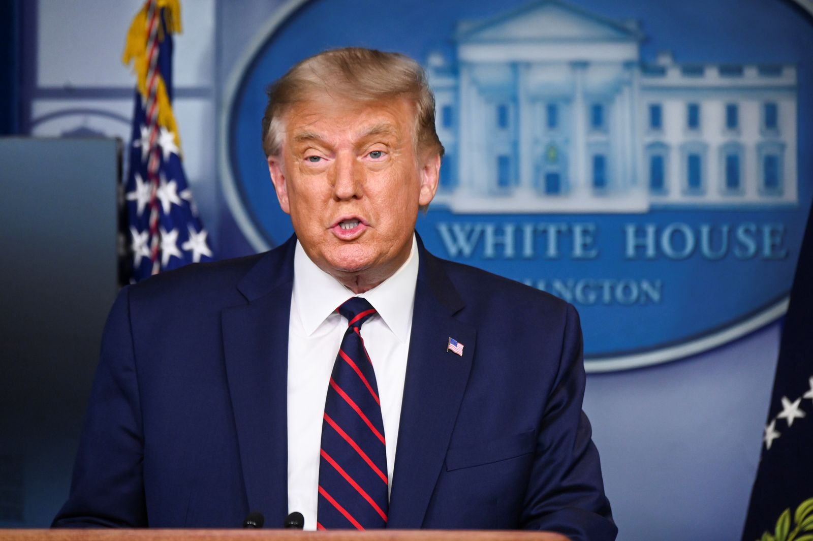U.S. President Trump holds news conference in Washington