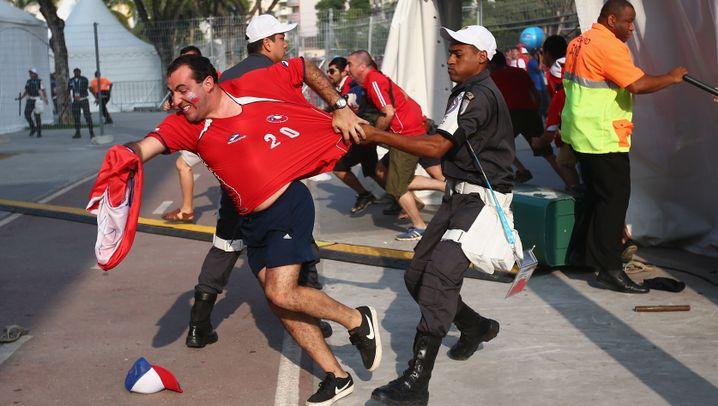 WM-Stadion in Rio: Chilenen tricksen Sicherheitskräfte aus