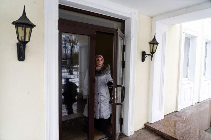 Eingang zum Wohnheim für Binnenflüchtlinge