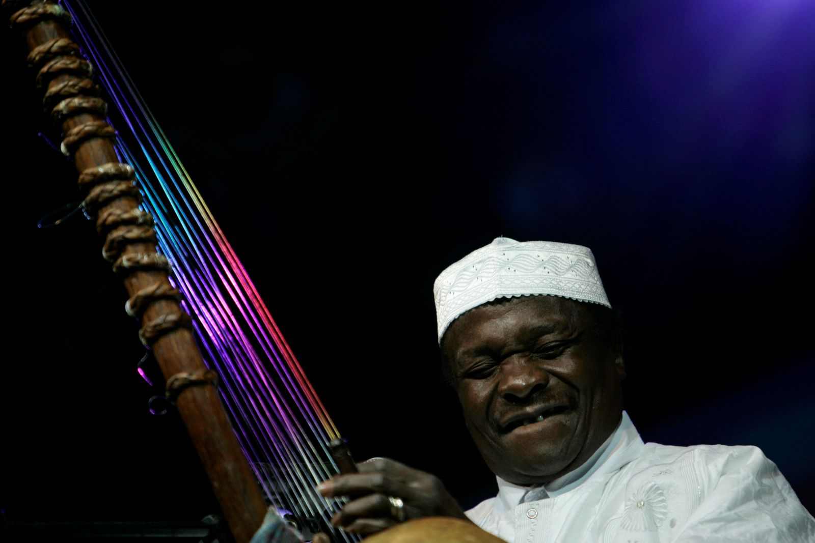 FILE PHOTO: Malian singer Mory Kante performs during his concert in Mawazine Festival