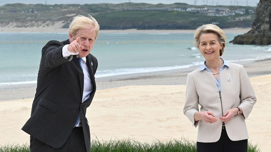 Britischer Premier Boris Johnson, EU-Kommissionschefin Ursula von der Leyen
