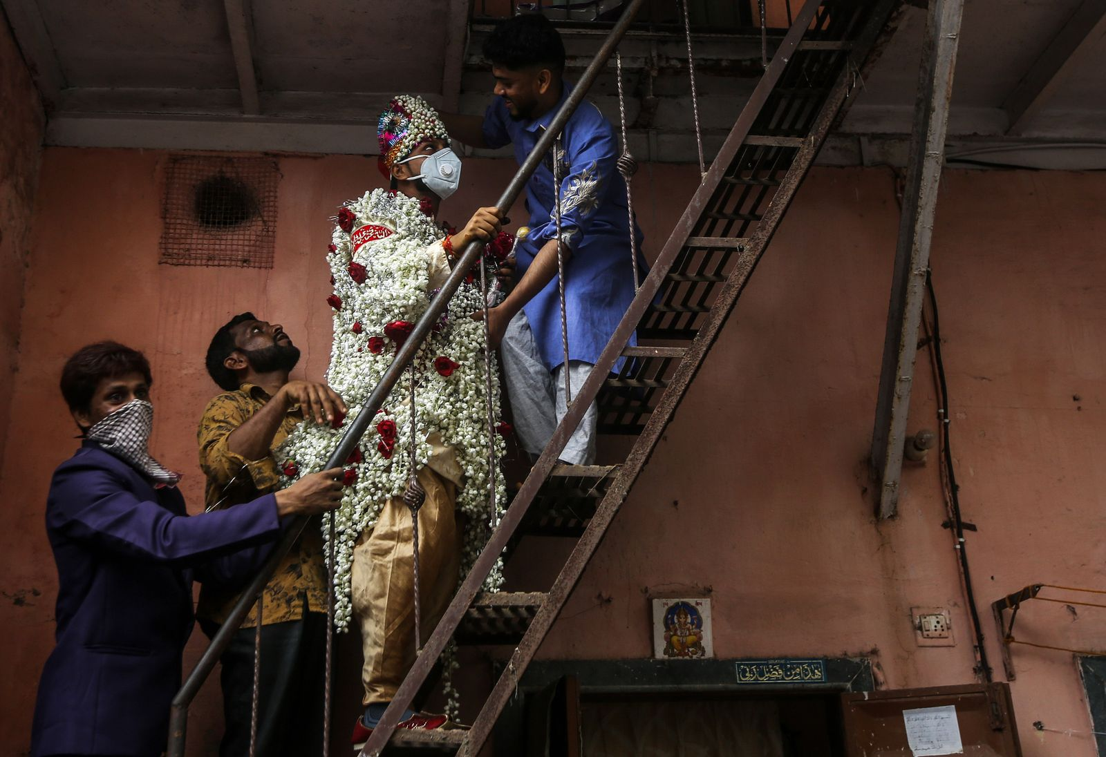 Wedding during coronavirus pandemic in India, Mumbai - 06 Jul 2020