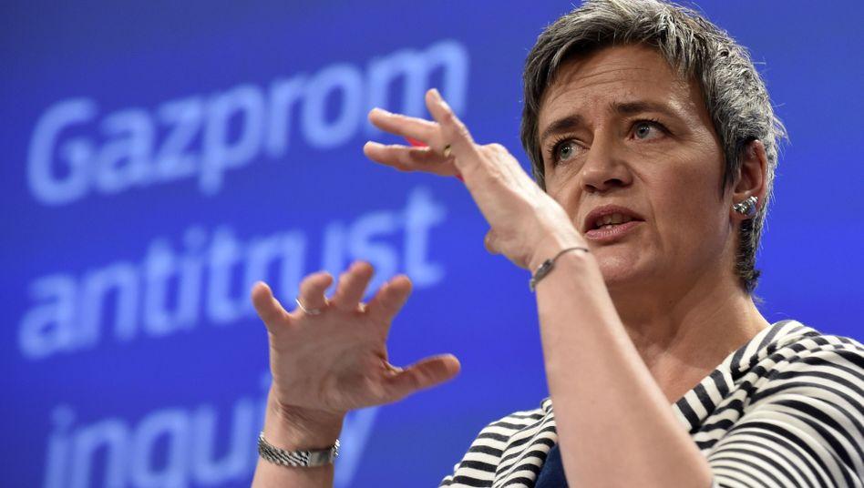 EU-Wettbewerbskommissarin Margrethe Verstager: Zähes Ringen mit Google