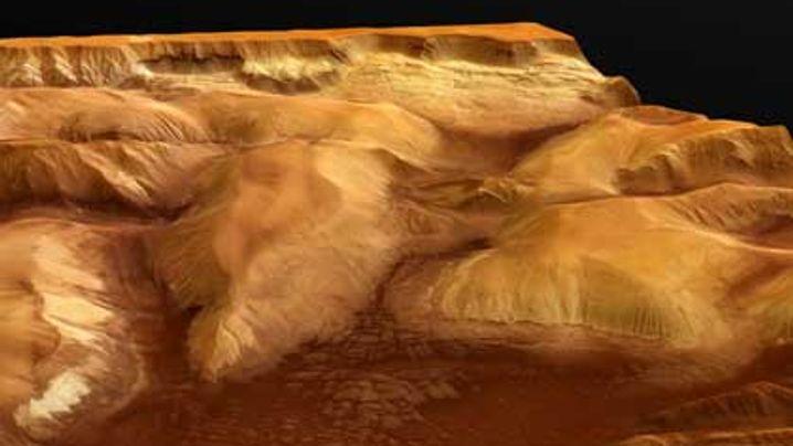 Mars in 3D: Über den Ophir-Schluchten