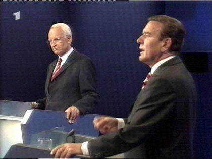 Stoiber und Schröder beim zweiten TV-Duell 2002: Die B-Note ist entscheidend