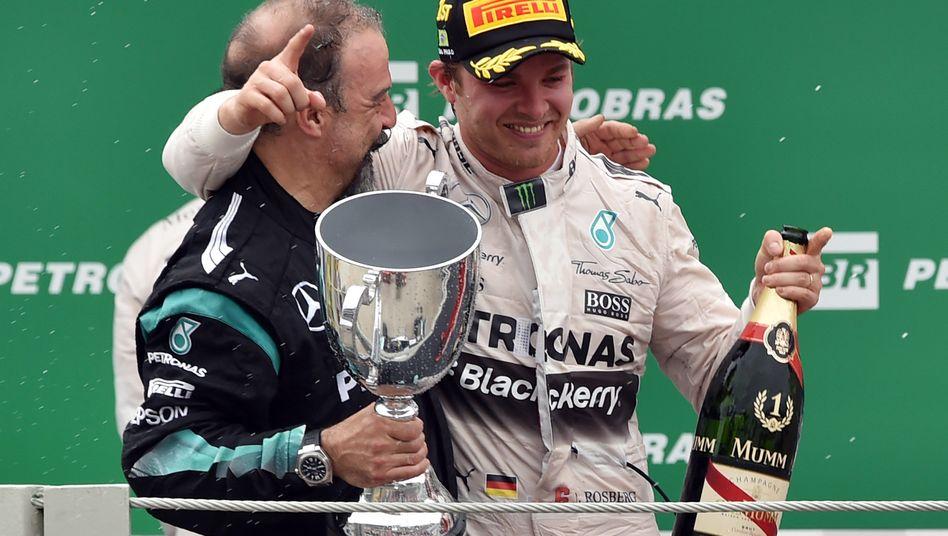 "Rosberg beim Jubeln: ""Jetzt ist er Hamiltons Vize"""